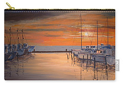 Sunset At Marina Carry-all Pouch