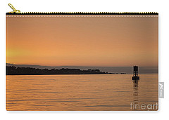 Sunset At Monterey Bay Carry-all Pouch by Suzanne Luft