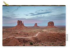 Carry-all Pouch featuring the photograph Sunset At Monument Valley No.1 by Margaret Pitcher