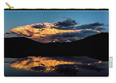 Sunset At Mount Guyot And Bald Mountain Carry-all Pouch