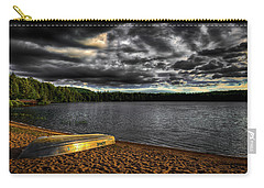 Sunset At Nicks Lake Carry-all Pouch by David Patterson