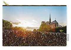Sunset At Notre Dame De Paris Carry-all Pouch