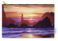 Sunset At Oregon Rocks Carry-all Pouch