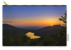 Sunset At Owls Head Carry-all Pouch by Tim Kirchoff