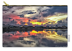 Sunset At Oyster Lake Carry-all Pouch