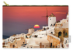 sunset at Santorini Carry-all Pouch