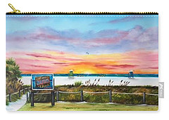 Sunset At Siesta Key Public Beach Carry-all Pouch