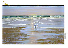 Sunset At The Beach Carry-all Pouch by Frank Wilson