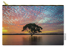 Carry-all Pouch featuring the photograph Sunset At The Brighton Tree by Keiran Lusk