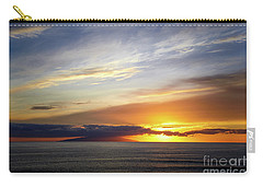 Carry-all Pouch featuring the photograph Sunset At The Canary Island La Palma by Juergen Klust