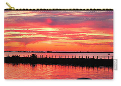 Sunset At The Docks Carry-all Pouch