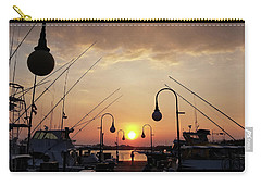 Sunset At The End Of The Talbot St Pier Carry-all Pouch