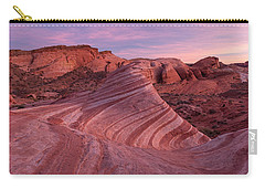Carry-all Pouch featuring the photograph Sunset At The Fire Wave by Patricia Davidson