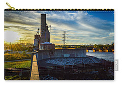 Sunset At The Flood Wall Carry-all Pouch