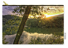 Carry-all Pouch featuring the photograph Sunset At The Lake by Kerri Farley