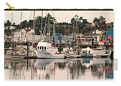 Sunset At The Marina Carry-all Pouch by Diane Schuster