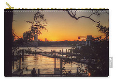 Sunset At The Pier Carry-all Pouch by Miriam Danar