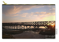 Sunset At The Wooden Bridge Carry-all Pouch by Angelo DeVal