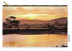 Sunset At Triabunna Tasmania Carry-all Pouch by Lexa Harpell