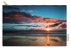 Sunset At Unstad Beach, Norway Carry-all Pouch