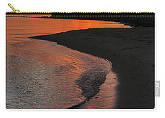 Carry-all Pouch featuring the photograph Sunset Bay by Lori Mellen-Pagliaro
