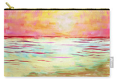 Sunset Beach Carry-all Pouch by Jeremy Aiyadurai