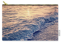 Carry-all Pouch featuring the photograph Sunset Bowman Beach Sanibel Island Florida Vintage by Edward Fielding