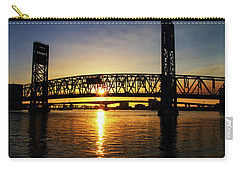 Sunset Bridge 1 Carry-all Pouch by Arthur Dodd