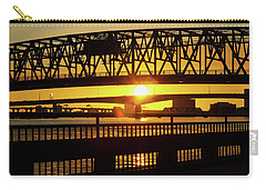 Sunset Bridge 3 Carry-all Pouch by Arthur Dodd