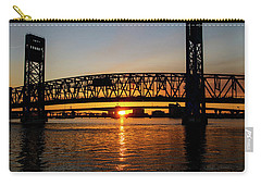 Sunset Bridge 5 Carry-all Pouch by Arthur Dodd