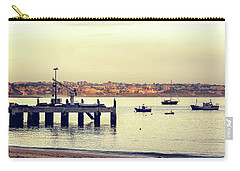 Carry-all Pouch featuring the photograph Sunset By The Sea by Marion McCristall