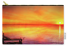 Carry-all Pouch featuring the digital art Sunset By The Shore by Randy Steele