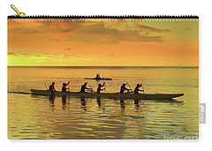 Sunset Canoeists Carry-all Pouch by Scott Cameron