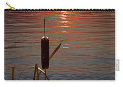 Sunset Cattail Carry-all Pouch