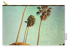 Sunset Cliffs Palms Carry-all Pouch by Linda Olsen