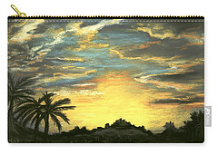 Carry-all Pouch featuring the painting Sunset Clouds by Anastasiya Malakhova