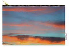 Sunset Clouds In Blue Sky  Carry-all Pouch