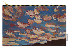 Carry-all Pouch featuring the painting Sunset Clouds Over Santa Fe by Erin Fickert-Rowland