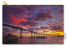 Sunset Crossing At The Coronado Bridge Carry-all Pouch