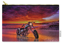 sunset Custom Chopper Carry-all Pouch by Louis Ferreira