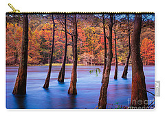 Sunset Cypresses Carry-all Pouch by Inge Johnsson