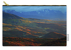Carry-all Pouch featuring the photograph Sunset During Autumn Below The San Juan Mountains In Colorado by Jetson Nguyen