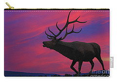 Sunset Elk Carry-all Pouch by Randy Steele