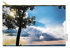 Carry-all Pouch featuring the photograph Sunset Explosion by Shelby Young