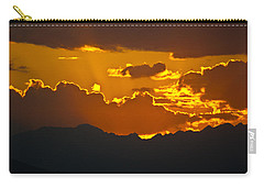 Carry-all Pouch featuring the photograph Sunset Fire by Colleen Coccia