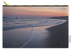 Carry-all Pouch featuring the photograph Sunset Fishing Seaside Park Nj by Terry DeLuco