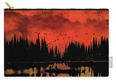 Sunset Flight Of The Ducks Carry-all Pouch by Andrea Kollo
