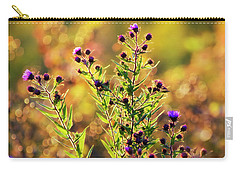 Carry-all Pouch featuring the photograph Sunset Flowers by Christina Rollo