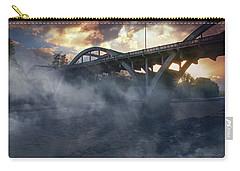 Sunset Fog At Caveman Bridge Carry-all Pouch