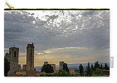 Carry-all Pouch featuring the photograph Sunset From San Gimignano by Jean Haynes